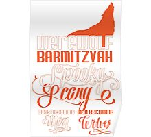 Werewolf Barmitzvah Orange Poster