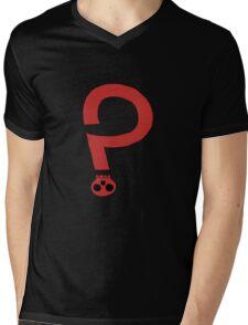 skull question mark... Mens V-Neck T-Shirt