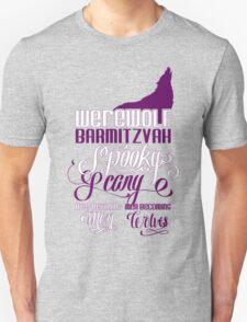 Werewolf Barmitzvah Purple White Unisex T-Shirt