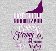 Werewolf Barmitzvah Purple White T-Shirt