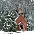 Church in Snowy Day in Yosemite by richx99