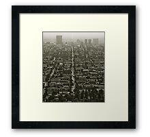 Los Angeles, CA Framed Print