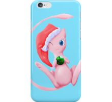 pokemon christmas mew cute chibi anime shirt iPhone Case/Skin