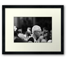 One in the Crowd Framed Print