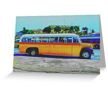 Maltese Bus Greeting Card
