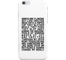 ACROSS THE UNIVERSE (black) iPhone Case/Skin