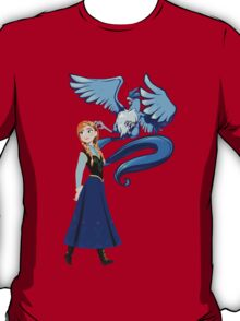 pokemon frozen disney articuno elsa anime shirt T-Shirt