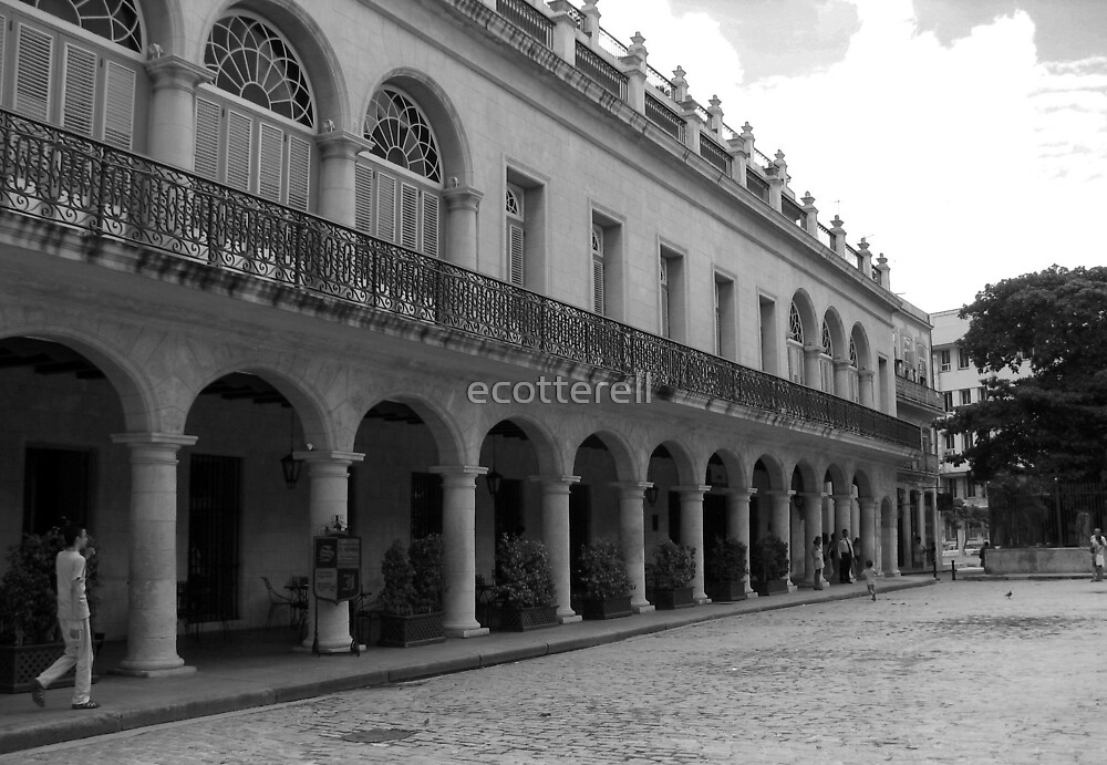 House of Count San Juan de Jaruco, Havana - black & white by ecotterell