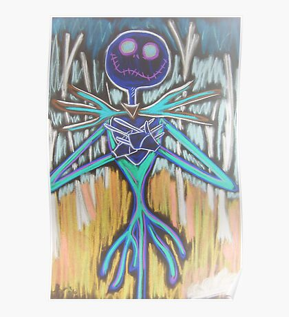 Skeleton - Inverted Colours Poster
