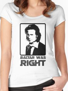 Baltar Was Right Women's Fitted Scoop T-Shirt