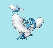 Altaria & Swablu by Wonderawhile