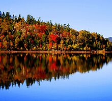 """""""Kennebecasis  River in  Autumn"""" by Gerry Myers"""
