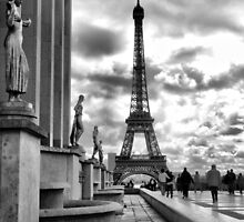 Eiffel Tower VI B&W by Eyal Geiger