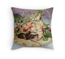 Potters Signature Steak with Scampi Throw Pillow