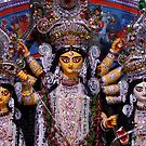 Goddess Durga, Lakshmi and Saraswati by Shubhrajit Chatterjee