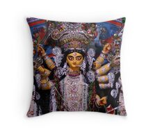 Goddess Durga, Lakshmi and Saraswati Throw Pillow