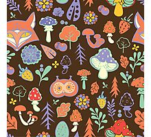 - Autumn forest pattern - Photographic Print