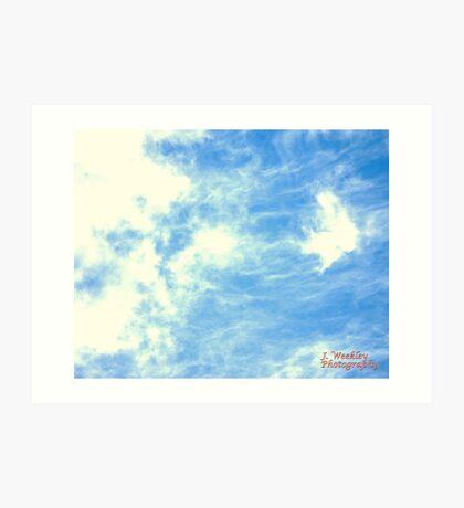 Cloud Webs Art Print