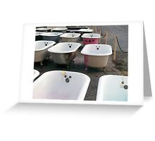 Mickey Mouse Bathtubs Greeting Card