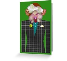 Orchid-Monkey Man Greeting Card