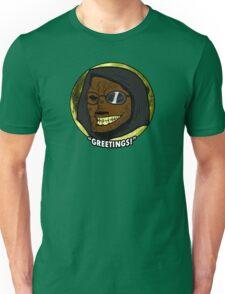 "Toon Dr. Wolfula Design- ""GREETINGS!"" Unisex T-Shirt"
