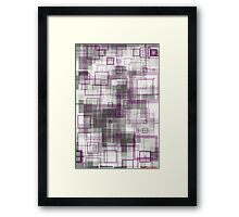 geometric abstract no.8 Framed Print