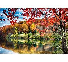 Colorful Trees  Reflections in a Lake Photographic Print