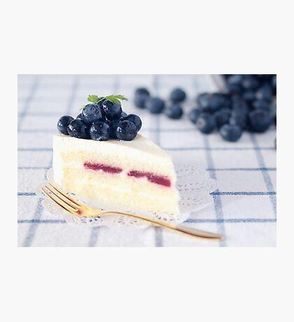 Blueberries on Cheesecake Photographic Print