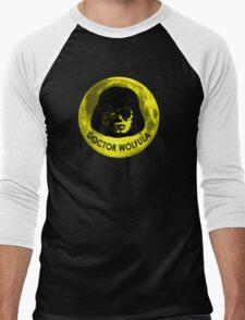Dr. Wolfula Yellow Moon Design Men's Baseball ¾ T-Shirt