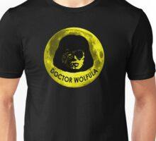 Dr. Wolfula Yellow Moon Design Unisex T-Shirt
