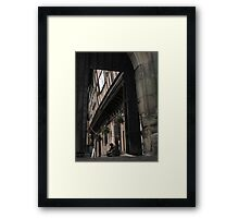 Leychester hospital, Warwick- through the gate Framed Print