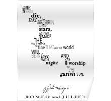 Romeo and Juliet Word Art Poster