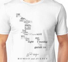Romeo and Juliet Word Art Unisex T-Shirt