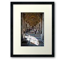 Halls of the Musei Vaticani Framed Print