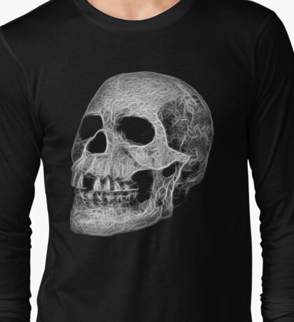 Fractal Skull Long Sleeve T-Shirt