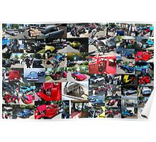 Classic Car Show Collage Poster