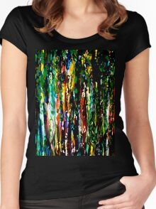Sunlit Forest Women's Fitted Scoop T-Shirt