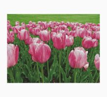 Pretty Pink Tulips digitally enhanced photographic art Kids Clothes