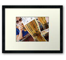 cool beer hot day Framed Print