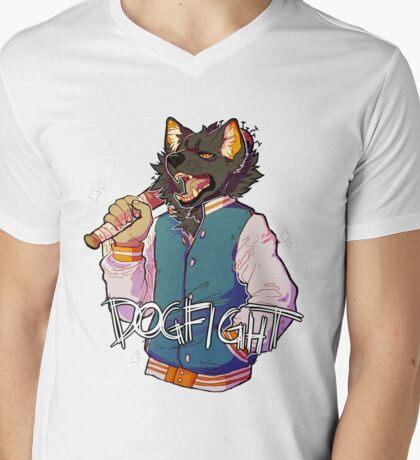 D O G F I G H T Mens V-Neck T-Shirt