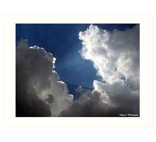 Sun Rays in Clouds Art Print