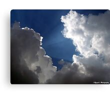 Sun Rays in Clouds Canvas Print
