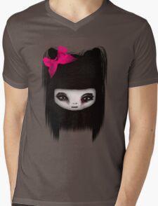 little scary doll Mens V-Neck T-Shirt