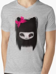 little scary doll Mens V-Neck T-Shirt