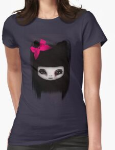 little scary doll Womens Fitted T-Shirt