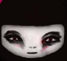 little scary doll Sticker