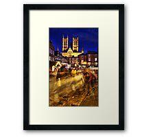 Lincoln Christmas Market Framed Print