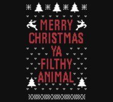 Merry Christmas Ya Filthy Animal One Piece - Long Sleeve