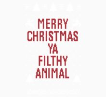 Merry Christmas Ya Filthy Animal One Piece - Short Sleeve