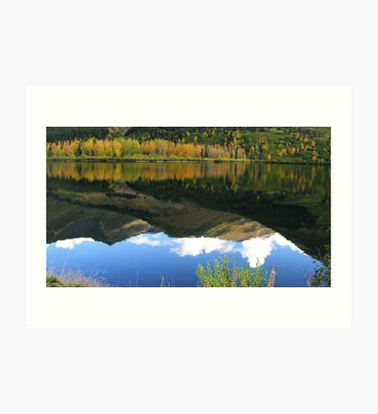 ALASKA AUTUMN - SUMMIT LAKE Art Print